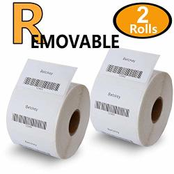 "2 Rolls Dymo 30334 Removable Compatible 2-1 4"" X 1-1 4"" 57MM X 32MM Medium Multipurpose Labels Bpa Free"