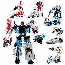 Hzx Transformer Defensors Idw Combiner 5IN1 Sets War Team Ko Collection Tf Model Action Figure Robot Toys