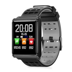 N98 Smart Watch IP67 Waterproof Support Blood Pressure Heart Rate Monitor Fitness Tracker Clock Smartwatch For Ios Android Black Grey Silicone