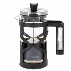 Dw Llza Kitchen French Press Coffee Maker - With 3 Minute Timer Handle 34 Ounce Triple Filtration System Includes 2 Additional Filters Glass Coffee French