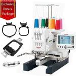 Janome MB-4S Four-needle Embroidery Machine With Included Hat Hoop Lettering Hoops