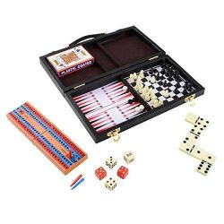 Travel Games Six In One Game Set Comes In An Adorable Sleek Attach Case The Best Six Travel Games Includes Backgammon Cards Chec