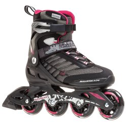 Rollerblade Zetrablade Women's Adult Fitness Inline Skate Black And Cherry Performance Inline Skates