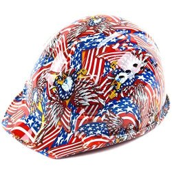 Rk Safety RK-HP34-FLAG Hard Hat Cap Style With 4 Point Ratchet Suspension 1EA Flag