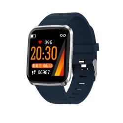 116PRO 1.3INCH Tft Color Screen Smart Watch IP67 Waterproof Support Call Reminder heart Rate Monitoring blood Pressure Monitoring sedentary Reminder sleep Monitoring Blue