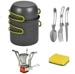 Michris Cookware Camping Pot Bowl Stove Set Burner