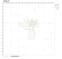 Zip Code Wall Map Of Wagner Sd Zip Code Map Laminated