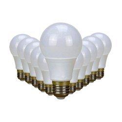 Superbright 3W LED Light Bulb Equiv 25W E27 Screw Cool White Pack Of 12