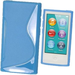 Igadgitz Dual Tone Blue Durable Crystal Gel Skin Tpu Case Cover For Apple Ipod Nano 7TH Generation 7G 16GB + Screen Protector