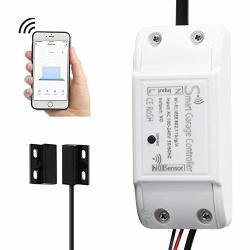 Wifi Smart Garage Door Controller Wireless Garage Door Opener Wifi App Switch Remote Control Compatible With Alexa Google Home And Ifttt