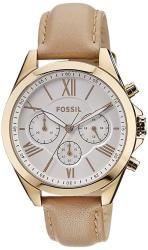 Fossil Women's Modern Courier Quartz Stainless Steel And Leather Chronograph Watch Color: Rose Gold Tan Model: BQ1751