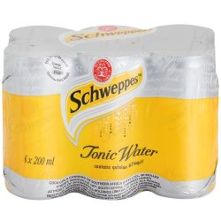 Schweppes - Tonic Water Cans 6 X 200ML