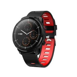 S10 Plus Smart Sport Watch IP67 Waterproof Support Real-time Heart Rate Monitoring Sleep Monitoring Bluetooth Alarm Clock Black Red