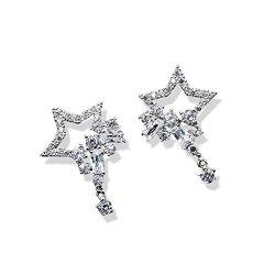 KGELE Earrings Zhang Jun Ning Warm String Earrings Earings Dangler Eardrop 2018 Earrings Korea Creative Women Girls Warm Summer