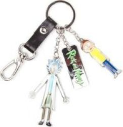 Difuzed Rick And Morty Character Charms And Logo Metal Keychain
