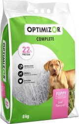 OptiMizor - Complete Dry Puppy Food - Beef 8KG 22% Protein