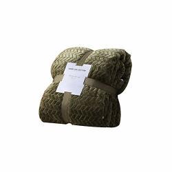 Mexidi Soft Warm Flannel Fleece Luxury Blanket Lightweight Cozy Plush Microfiber Solid Anti-static Couch Throws Sofa Bedding Dar