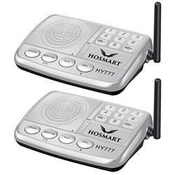 Wireless Intercom System Hosmart 1 2 Mile Long Range 7-CHANNEL Security Wireless Intercom System For Home Or Office 2019 New Ver