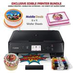 Mobile Deals Edible Birthday Cake Topper And Tasty Treats Image Printer Bundle - Includes Canon Wireless Printer Edible Ink Cart