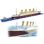 DOvOb Nanoblock Titanic Model Building Block Set Intellective Building Bricks 3D Puzzle Diy Educational Toy Gift For Adults And