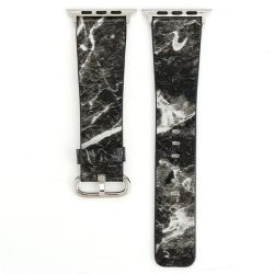Black Marble 42MM Band For Apple Watch