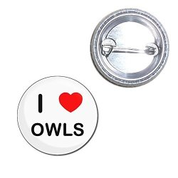 BadgeBeast I Love Owls - 25MM Button Badge