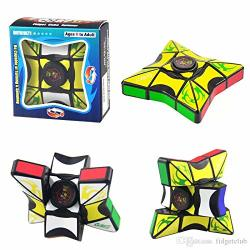 Unique Fidget Spinner - Fidget Spinner puzzle Cube Combination. Twists Like A Rubik's Cube & A Fidget Spinner