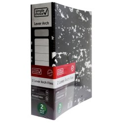 SIMPLE CHOICE - Lever Arch File A4 2PK