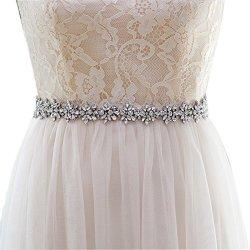 TOP Queen Women's Crystal Diamond Bridal Belt Sashes Wedding Belts Sash For Wedding Dress Antique Violet
