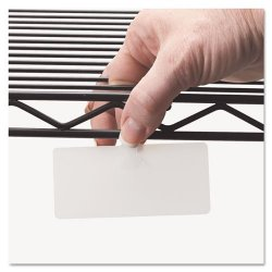 """Panter Company Wire Rack Shelf Tag Side Load 3-1 2"""" X 1-1 2"""" 10 Pack White PCIWL3515"""