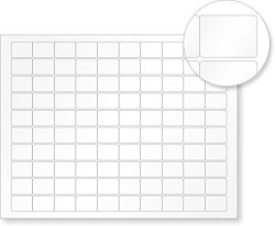 """MyAssetTag Sheets Of Tattletale Vinyl Labels With Heavy Adhesive 500 Labels pack 0.75"""" X 2"""