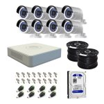Hikvision 8 Channel Turbo Dvr With 1TB Hdd & 8 Cameras Diy Cctv Kit