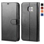 OCASE Galaxy S7 Edge Case Leather Wallet Flip Case For Samsung Galaxy S7 Edge - Black