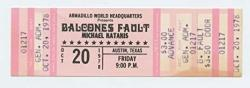 USA Balcones Fault Ticket Michael Katakis 1978 Oct 20 Austin Tx Unused
