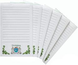 USA Dougan Irish Coat Of Arms Notepads - Set Of 6