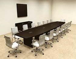 Modern Boat Shaped 18' Feet Conference Table OF-CON-C80