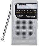 AM Fm Battery Operated Portable Pocket Radio - Best Reception And Longest Lasting. Fm Compact Transistor Radios Player Operate
