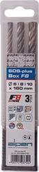 ALPEN Sds Plus F8 Extreme 3piece Set 6 8 & 10mm