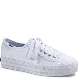 Keds Women's Triple Kick Canvas Fashion Sneaker White 8 M Us