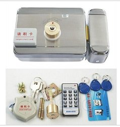Orykey DC12V Two-way Door And Gate Access Control System Electronic Integrated Rfid Lock With Rfid Reader With 10PCS Id 125KHZ Keyfob