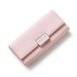 Large Capacity Women Pu Leather Casual Wallet Cell Phone Wallet