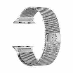 Game Time Boston Sox Stainless Steel Mesh Watch Band Compatible With Appl Smart Watches 38MM 40MM