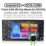 Android 8.0 Double Din In Dash HD 1024X600 Capacitive Touch Screen Octa Core Car Video Receiver Multi-media Player Gps Navigatio