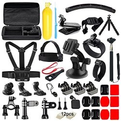 Navitech 18-in-1 Action Camera Accessories Combo Kit with EVA Case Compatible with The Olfi one.Five Action//Dash Camera