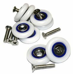 Shower Door Rollers Stainless Steel Cubicle Wheels Enlosure Runners Sliding Door Pulleys 23MM Shower Door Guides Set Type Q 8PCS