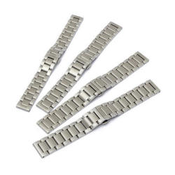 Stainless Steel 18 20 21 22MM Silver Color 3 Beads Watch Band