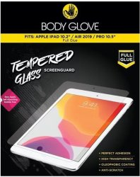 Body Glove Full Glue Tempered Glass Tablet Screen Protector For Apple Ipad 10.2 Inch Ipad Air 2019 And Ipad Pro 10.5 Inch - Clear