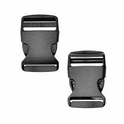 Adiyer 15 Pack 1.5 Inch Side Quick Release Plastic Buckles Black