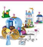 122 Pcs Princess Cinderella's Dream Carriage Building Blocks Set