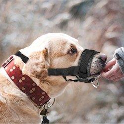 ONSON Dog Muzzle - Adjustable And Comfortable Nylon Muzzles For Small Medium Large Extra Dog - Stops Biting Safe Retraining Of Aggressive Dogs